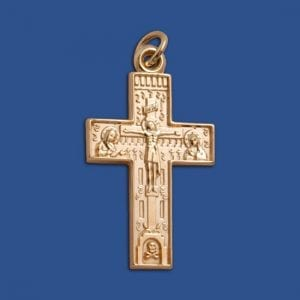 greek crucifix pendant