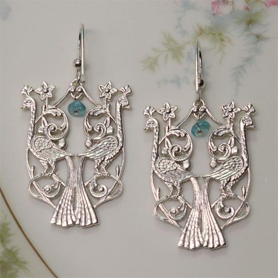 birds of paradise earrings