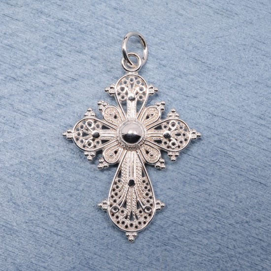 Greek Filigree Cross Sterling Silver Gallery Byzantium