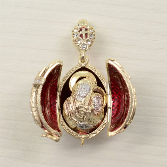 Faberge style egg pendants locket with mother of god gallery faberge style egg pendants locket with mother of god aloadofball Images