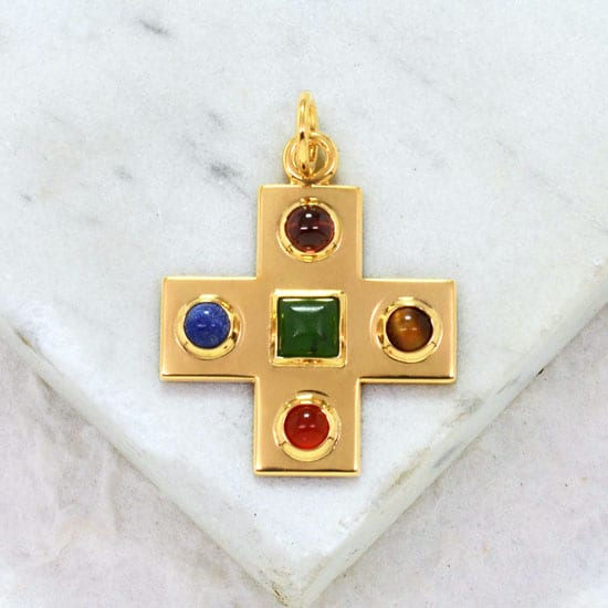 Jeweled byzantine cross gold gallery byzantium byzantine cross pendant mozeypictures Image collections