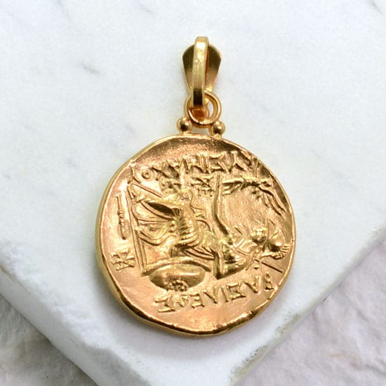 Alexander the great ancient greek byzantine coin pendant alexander the great coin pendant gold aloadofball Image collections