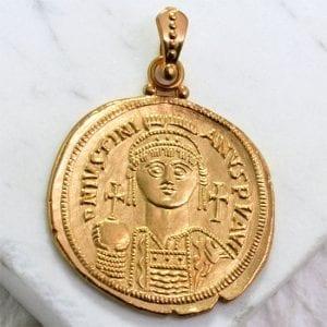 gold byzantine coin