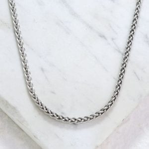 silver heavy rope chain