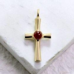 st. sophia, byzantine, sophia cross, gold cross, handcrafted jewelry, gold jewelry, baptism, baptismal cross