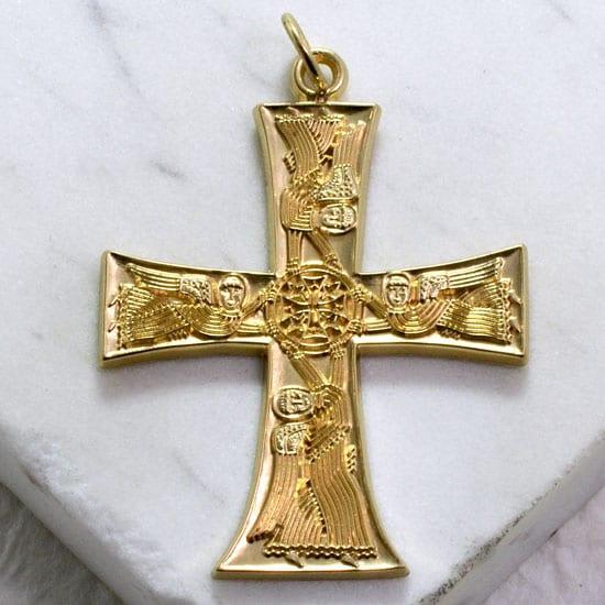 Angel Cross 14kt Yellow Gold Large Gallery Byzantium