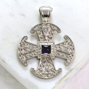 Canterbury cross amethyst