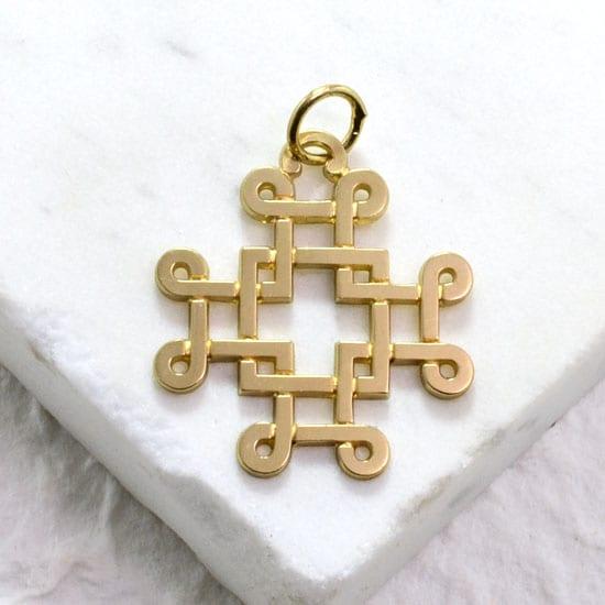 St Ninian Cross Yellow Gold Medium Gallery Byzantium