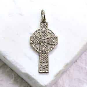 silver Irish cross
