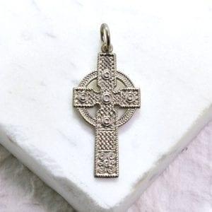 silver Irish cross