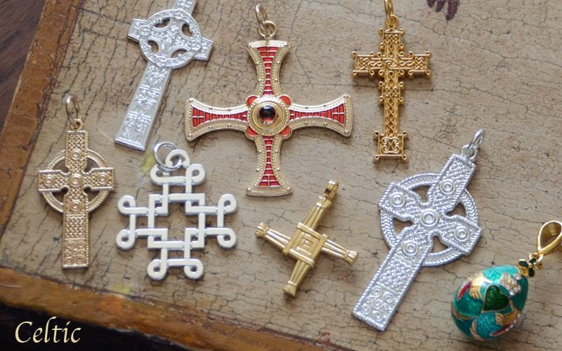 Irish cross pendants