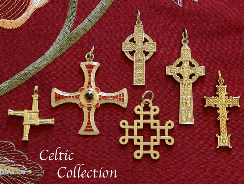 Irish cross pendants