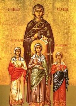 st. sophia, faith, hope, love, martyr, sophia