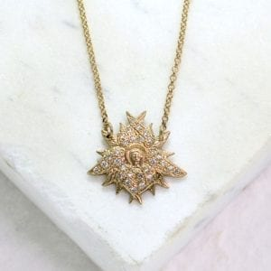 diamond angel pendant