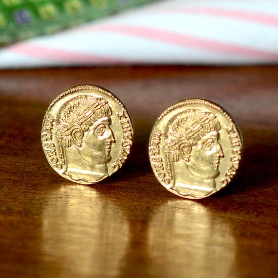 Constantine The Great Ancient Byzantine Coin Cufflinks