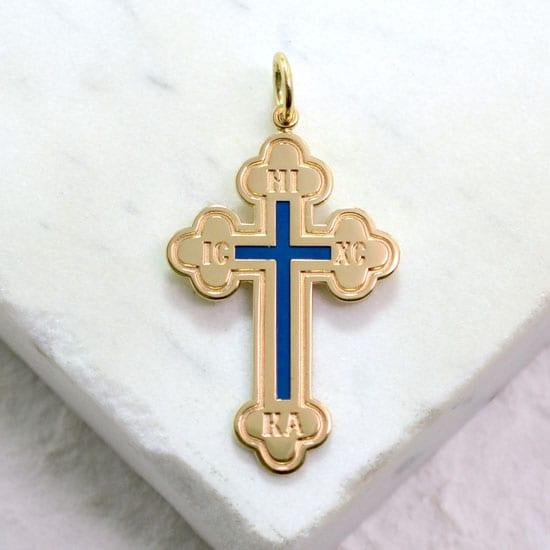 gold Greek cross