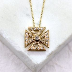 Greek Diamond Cross