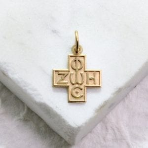gold Greek cross