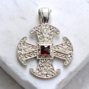 Canterbury cross Garnet