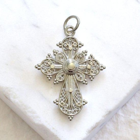 silver filigree pendant
