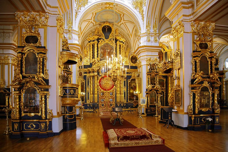 Interiors Of St Nicholas Cathedral In St Petersburg