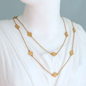 gold layering necklace