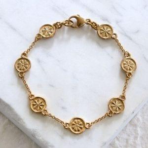 gold station bracelet