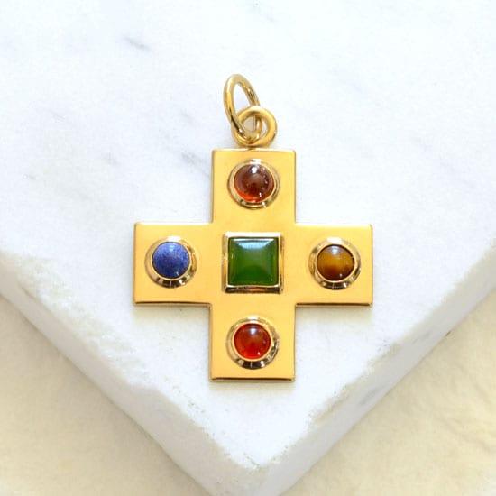 Byzantine cross pendant
