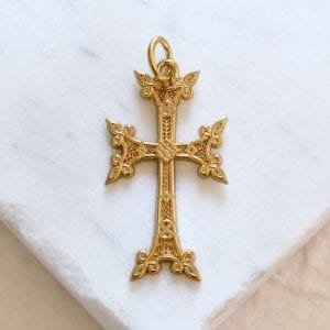 Armenian Orthodox Gold Siroun Cross