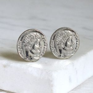 ancient coin cufflink