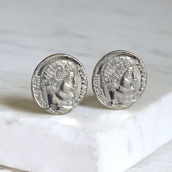 ancient coin cufflink