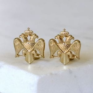 Russian and Byzantine Imperial Crest Cuff Link Set