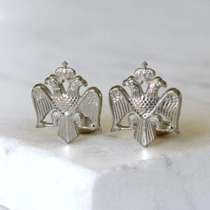 Russian Imperial Crest Cuff Link Set